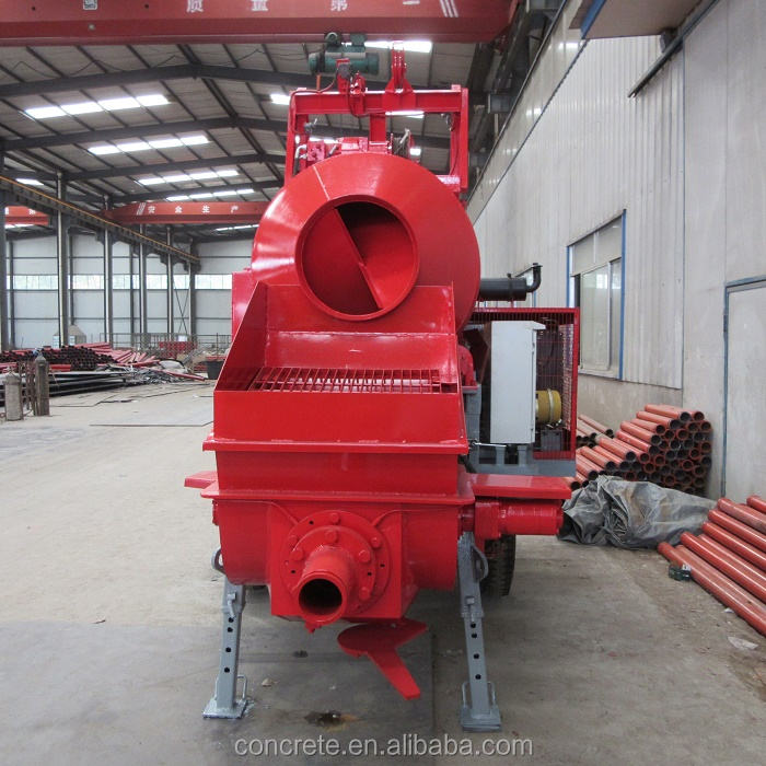15m3/h small diesel portable concrete mixer with pump for sale