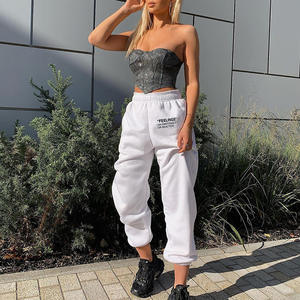 Autumn new letter printed high waist loose sweat pants casual sports jogger harem pant cotton women sweatpants