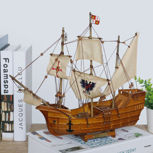 Clumbus' Flag Ship Santa Maria Pinta Nina Wooden sailboat model Historical Tallship war ship scale model father's day gift 14''