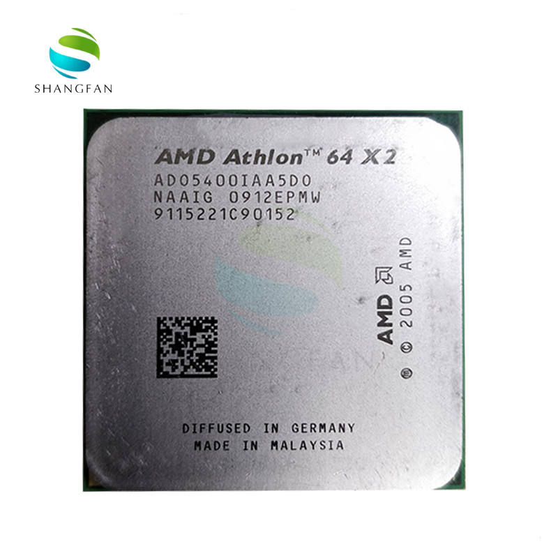 Untuk AMD Athlon X2 5400 X2 5400 + 2.8GHz Ado5400ia5do ADO540BIAA5DO Ado5400ia5ds Soket Prosesor CPU Dual-Core AM2 940pin