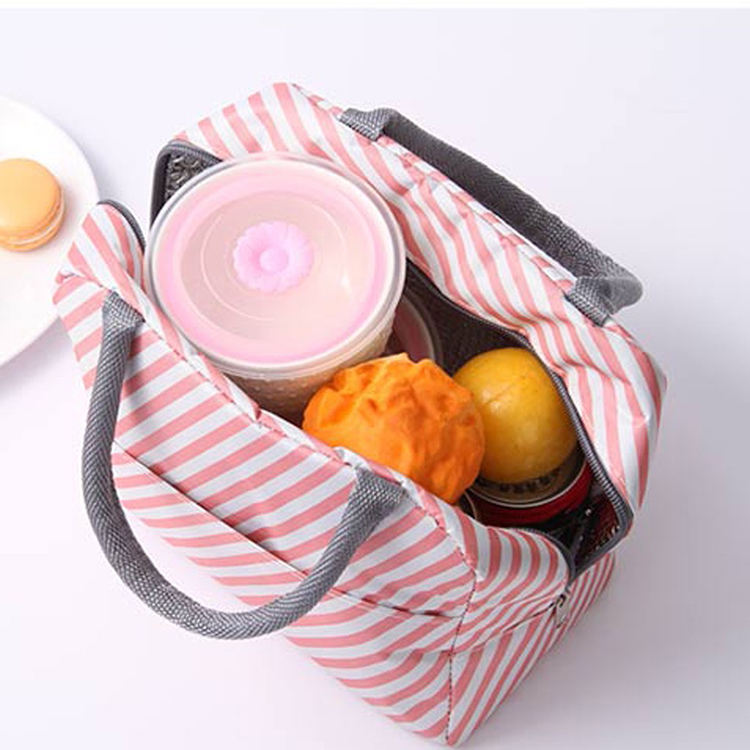 Portable Women Kids Insulated Canvas Cooler Lunch Box Picnic Bags