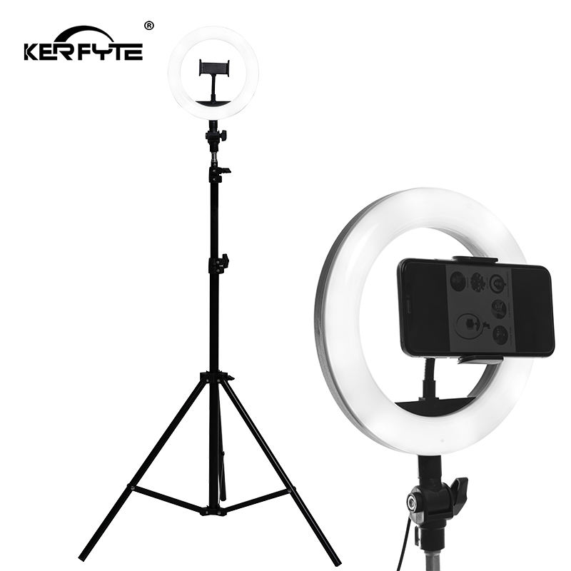 10 Inch 26cm LED Ring Light 5W Selfie Ring Lamp Makeup Studio Fill Light Live Broadcast Streaming Beauty Photography Photo Light