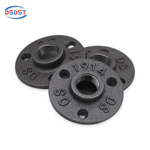cast iron floor flange 3 hole 1/2 3/4 Black Industrial LOFT for Retro Industrial Furniture