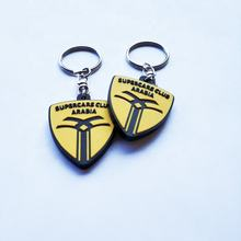 Rubber key ring custom double side 2D logo keychains/key ring