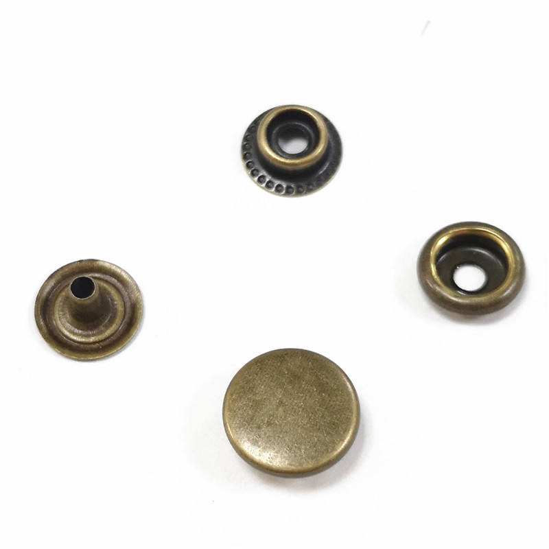 brass snap button 4 parts eco-friendly plating silver for clothes and bags 1.5CM size 201# spring button