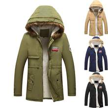 winter men's jacket thick mens cotton coats warm couple coat high street  men outwear with hood