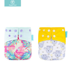 Happy Flute Baby Cloth Diapers Washable Pocket Nappy with microfiber insert Reusable Cloth Diaper Covers