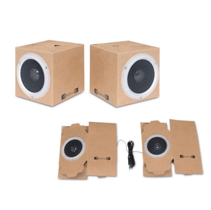 Creative wireless boombox paper speaker rechargeable portable speaker mini woofer