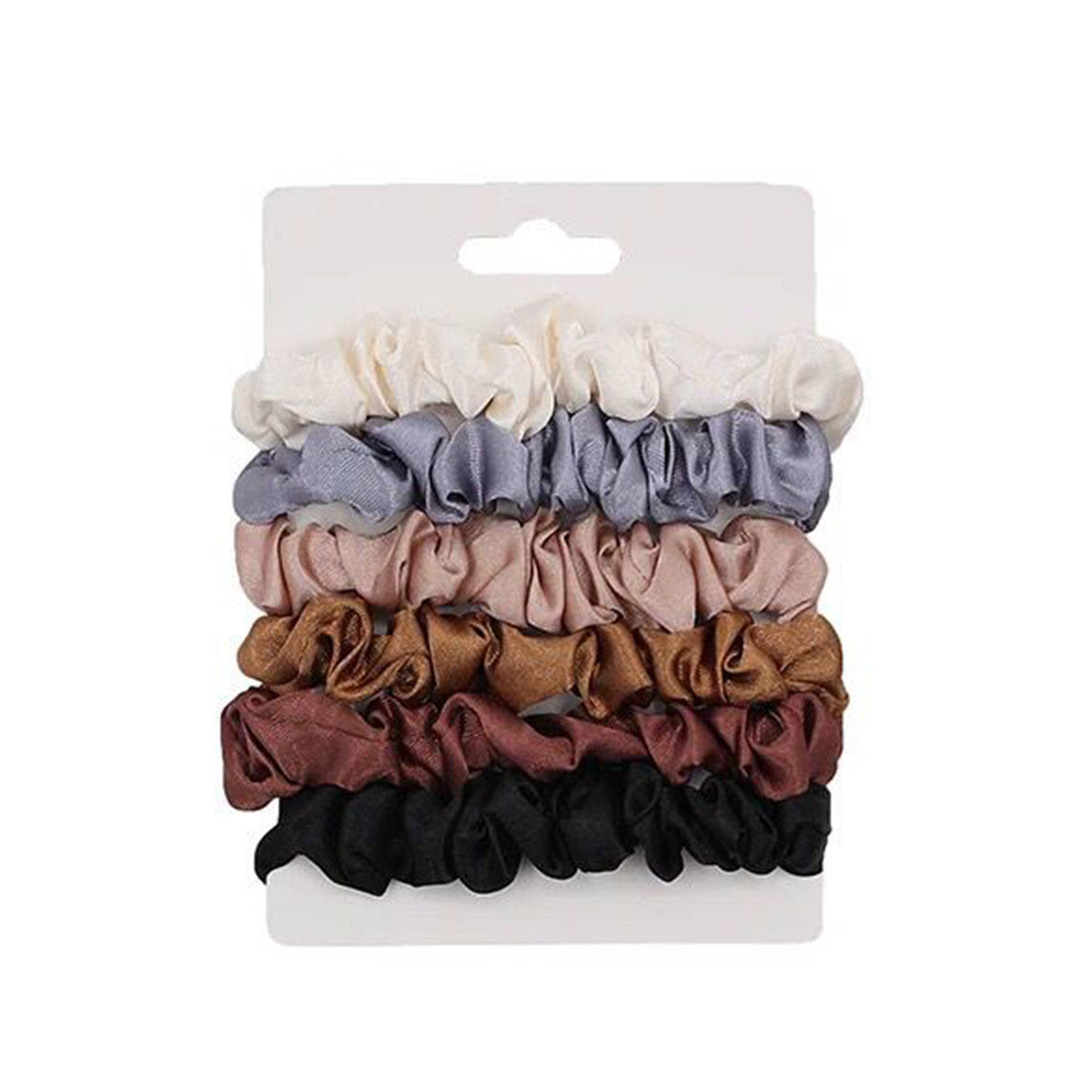 Wholesale 6pcs Pack Elastic Scrunchy Hair Ties Silk Satin Hair Scrunchies