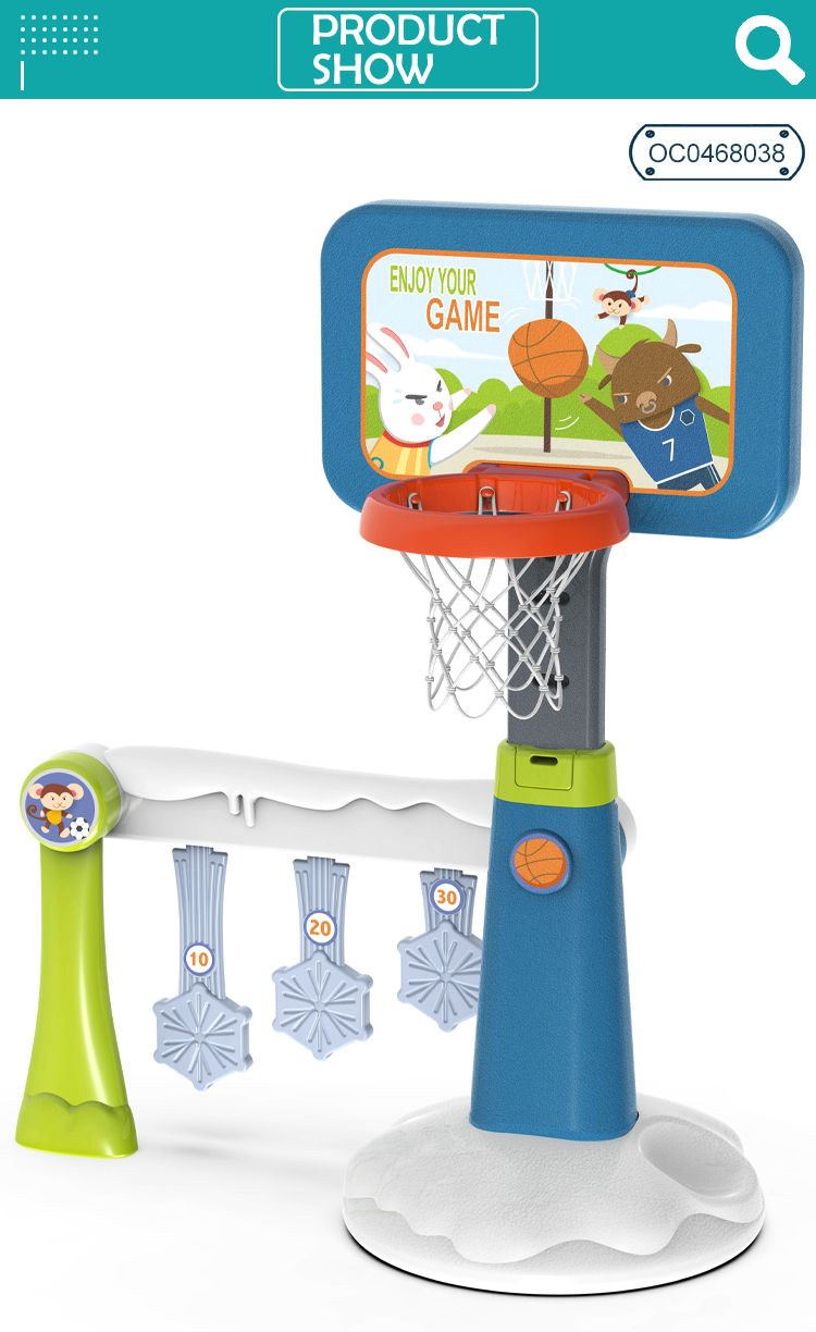 Boy Mini 2 In 1 Basketball Stand Football New Sports Toys Kids Games