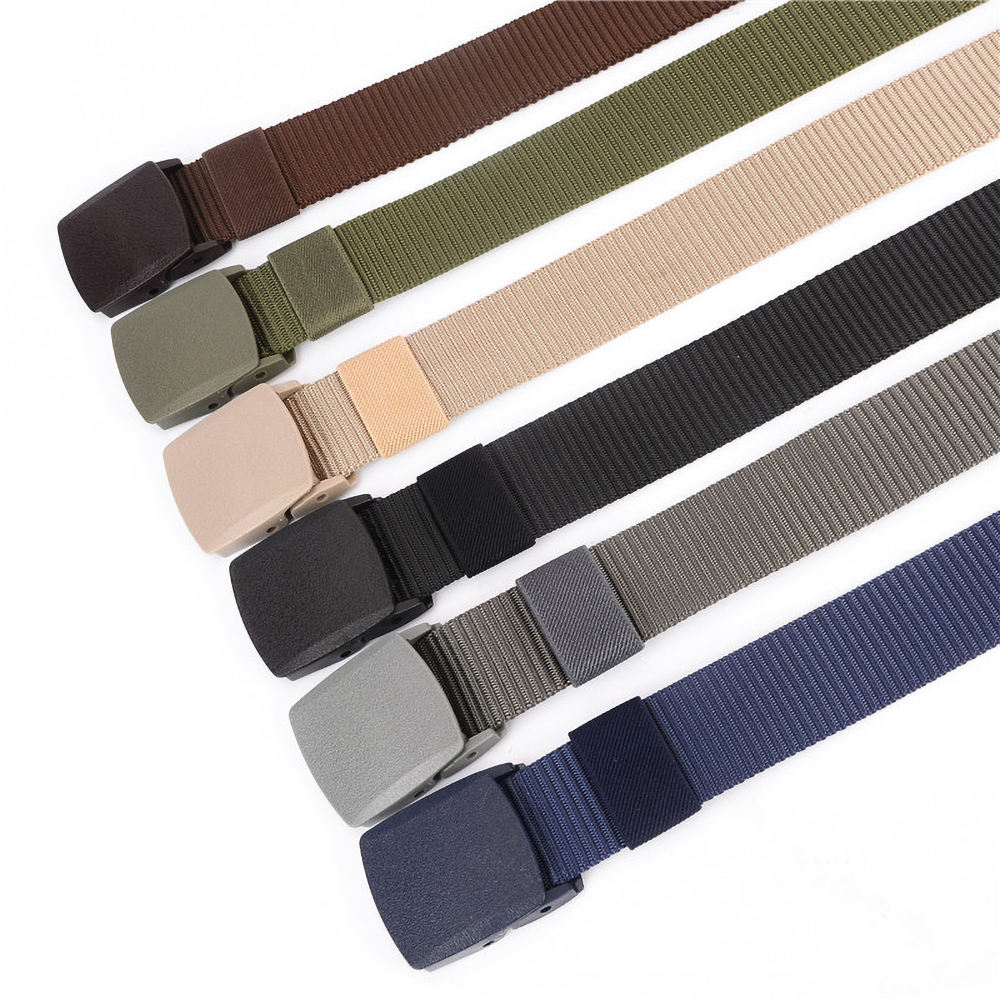 Superior Nylon tactical belt allergy-proof canvas belt, men's casual, environmentally friendly belt
