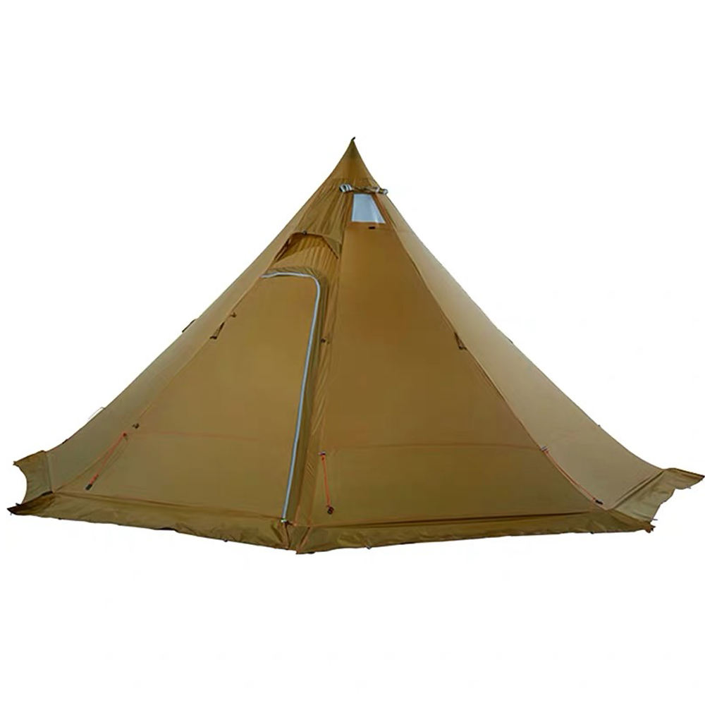 Pyramid tent 4-5 people lightweight outdoor hiking camping with snow skirt rainproof windproof tent