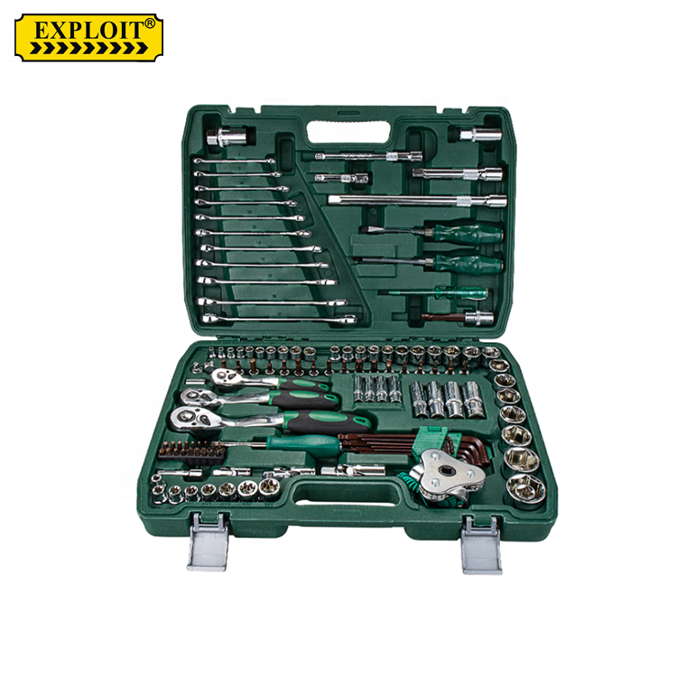 Professional Heavy Duty Car Repairing Equipment Portable 121 Pcs Auto Car Repair Combination Hand Tool Kit Socket Wrench Set