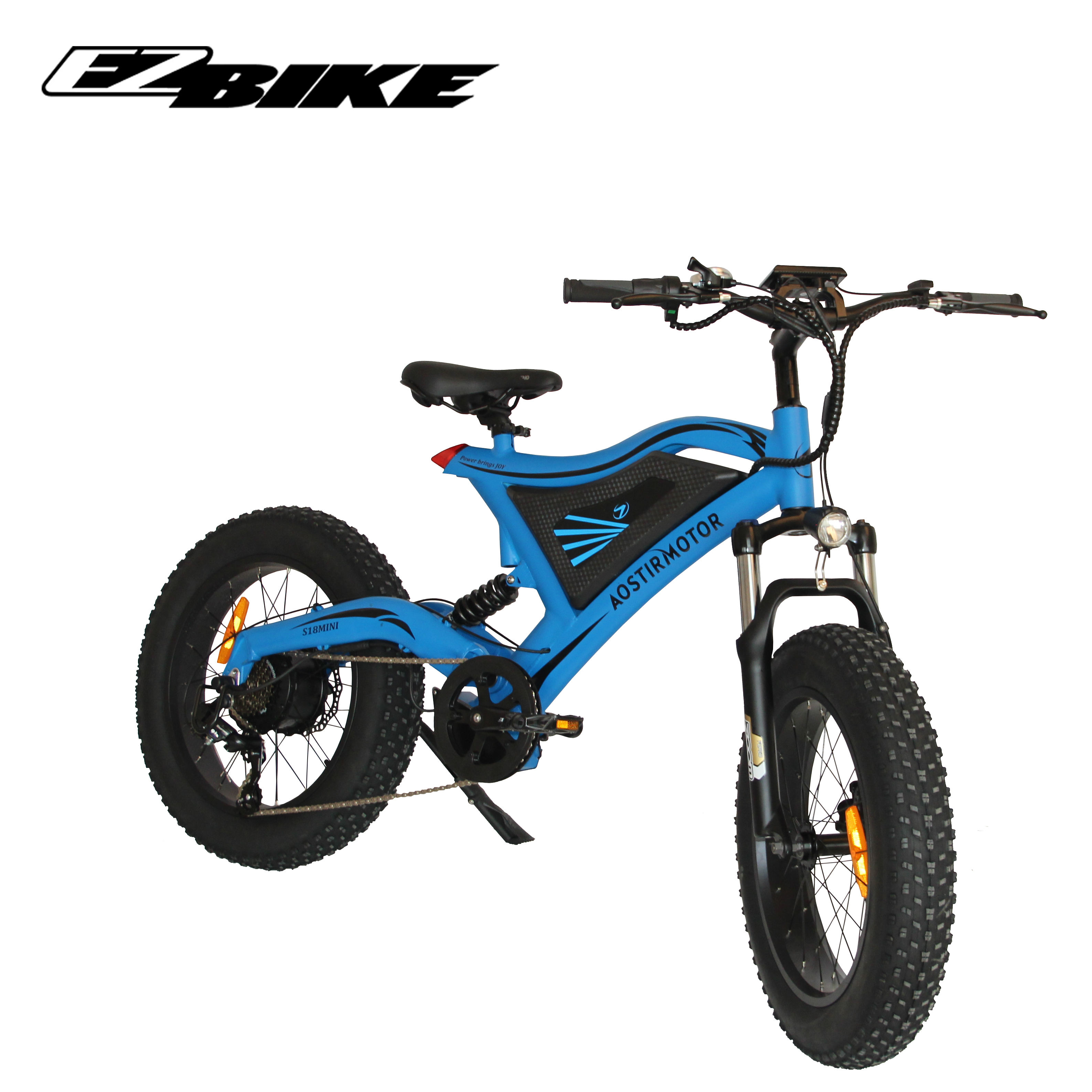Import high safety factor 48v 500w kids 20 inch fat tire electric bicycle bike from china