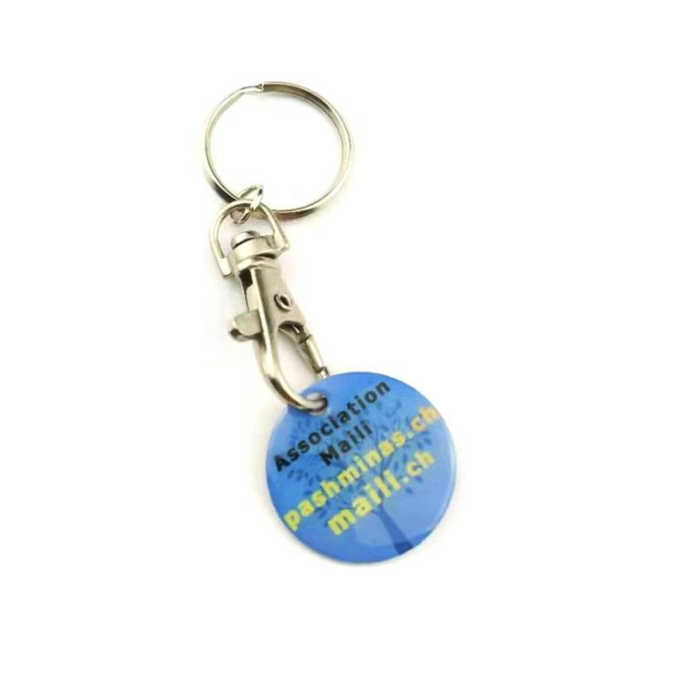 Promotional Trolley Token Key Chain Store Free Gifts Super Market Giveaway Gifts