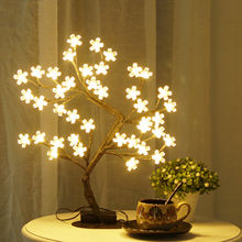 Bolylight Wholesale Christmas Mini Indoor Artificial Decoration Led Cherry Blossom Tree Light For Tree