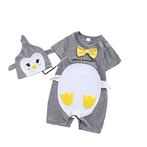 Summer Baby Girl Cartoon Animal Short Sleeve Rompers Newborn Boy Flat Angle Romper Bodysuit