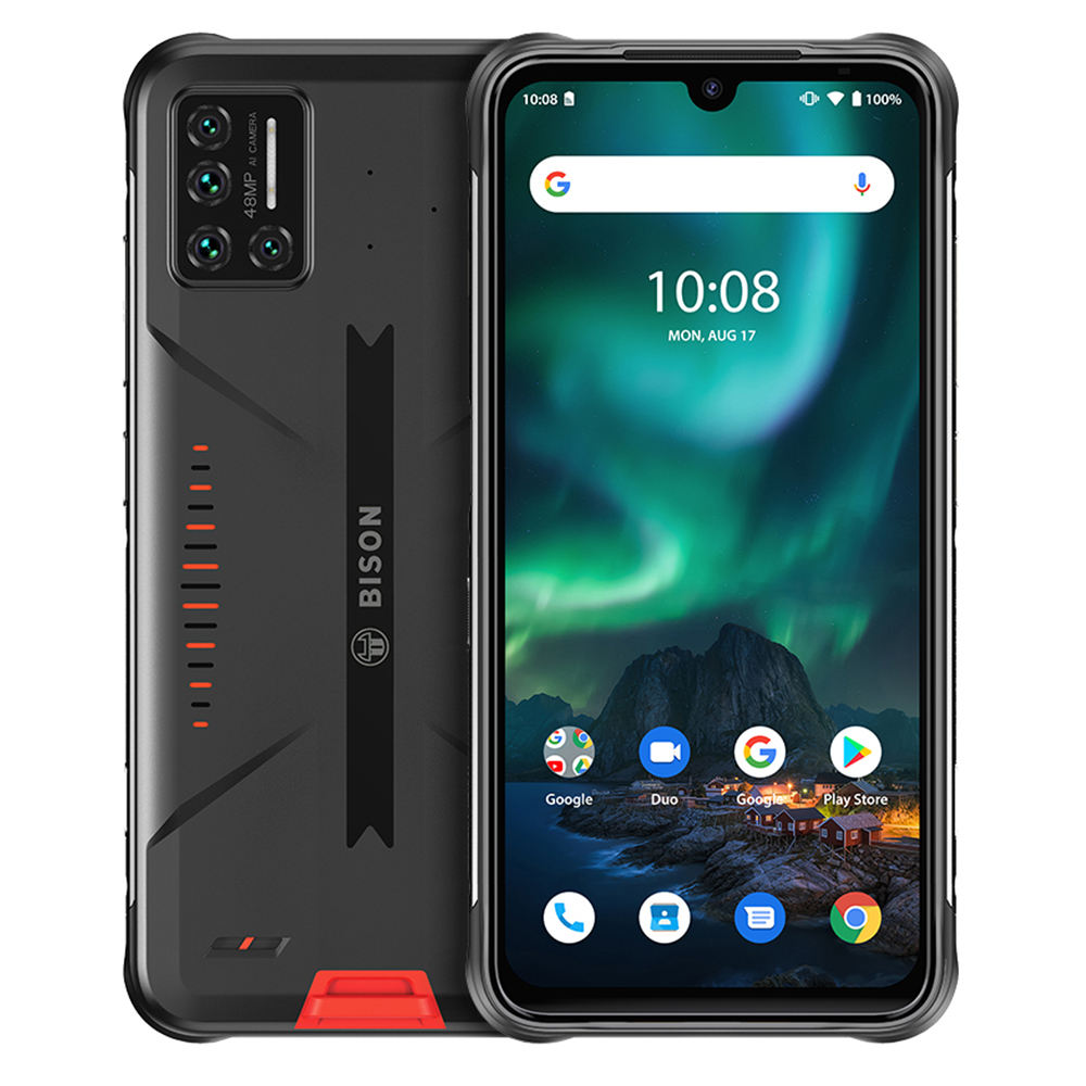 "UMIDIGI BISON Rugged Smart Phone IP68/IP69K Waterproof 48MP Matrix Quad Camera 6.3"" FHD+ Display 6GB+128GB NFC Android Cellphone"
