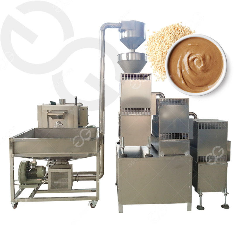 Good Performance Tahini Production Line Sesame Seed Butter Making Processing Machinery Sesame Grinding Tahini Making Machine