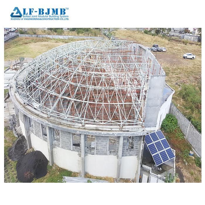 Xuzhou LF Große Spannweite Space Frame Made Für Mehrzweck Halle in Niedrigen Kosten Licht Stahl Struktur Entwickelt
