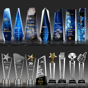 Accept Any Design Crystal Trophy Business Gifts Crystal Block 3d Crystal Trophy Glass Awards