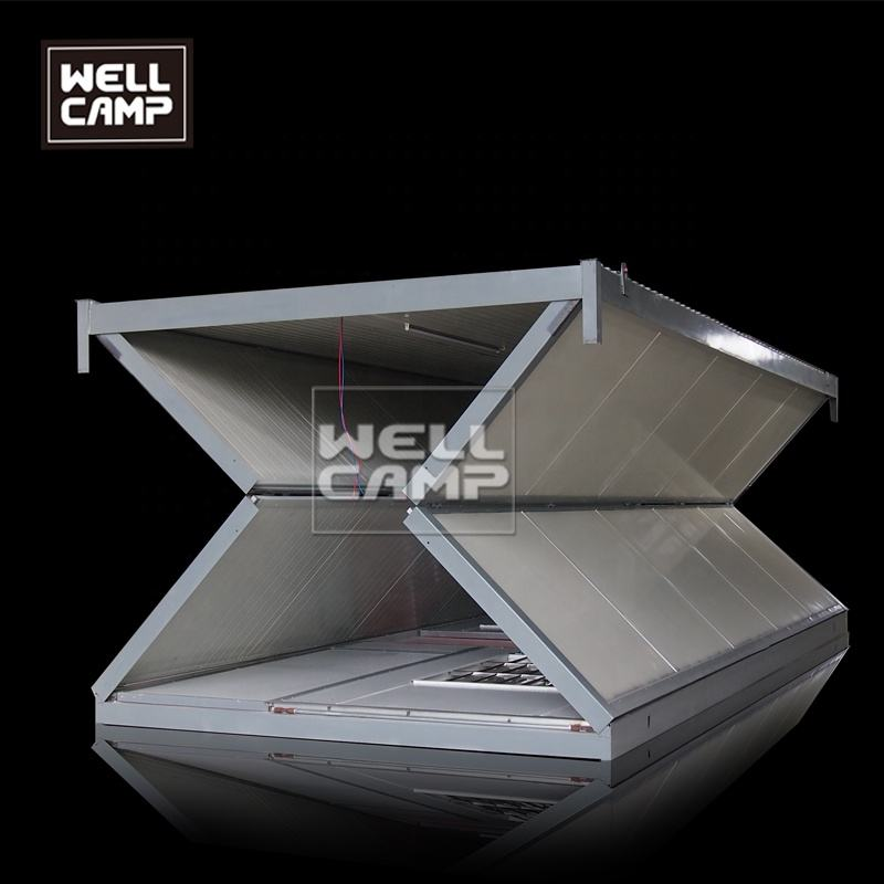 Wellcamp Isolation collapsible caravan dormitory Singapore 20ft folding house for sale collapsible prefab building