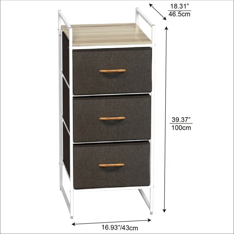 STAR CREATION Professional Resonable Price Customized Fabric Closet Organizer With 3 Drawers
