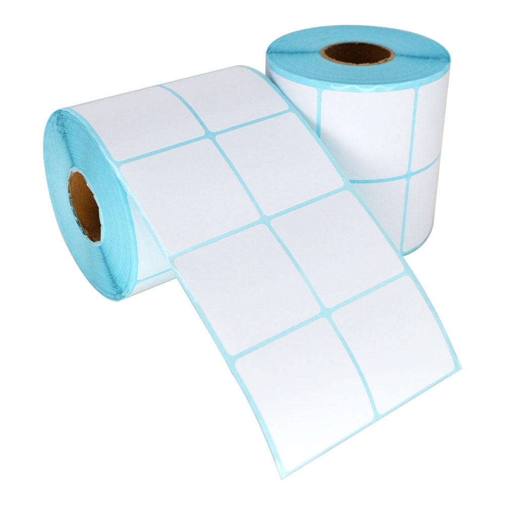 Roll blank 2x2 inch 50x50mm 2000 pieces direct thermal paper adhesive label sticker for Zebra Dymo barcode printer