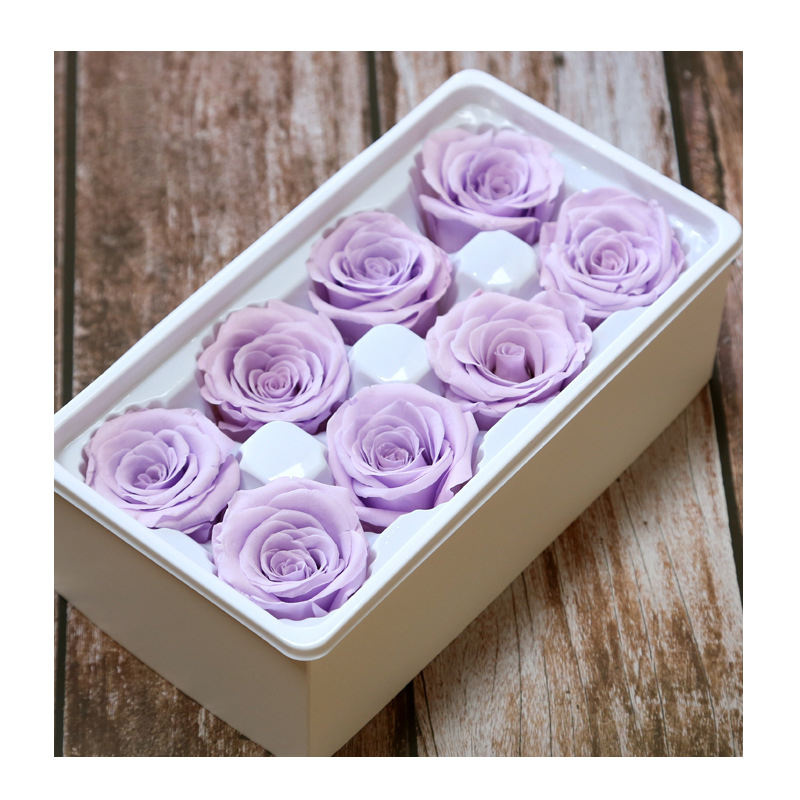 Eternal Life Flower Material Gift Box Immortal Rose Flower Rose Artificial Preserved Flowers Head Roses