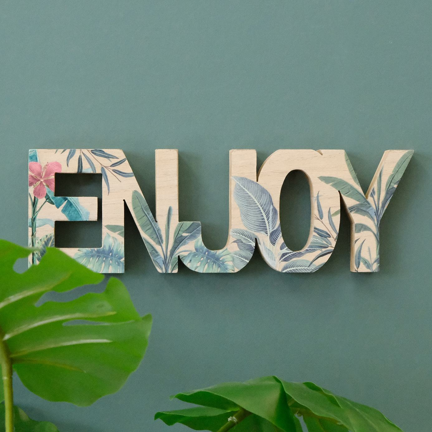 Decor Wooden Enjoy Table Sign Room Decor