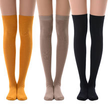 MEIKAN Colorful Custom Fashion Cotton Women Cosplay Knit Over Knee Thigh High Socks