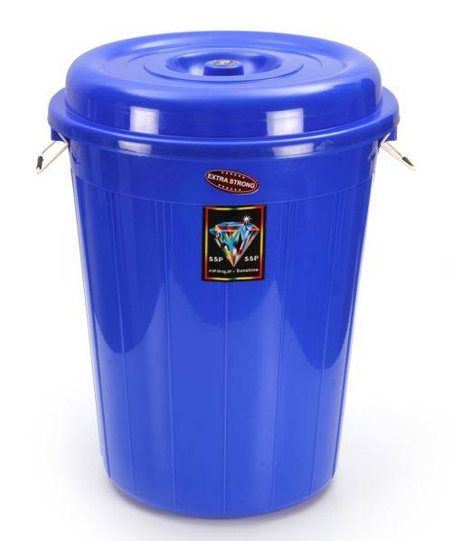 Big size high quality heavy duty 80 liters plastic bucket / barrel / drum with Lid for liquid / oil/ grease storage