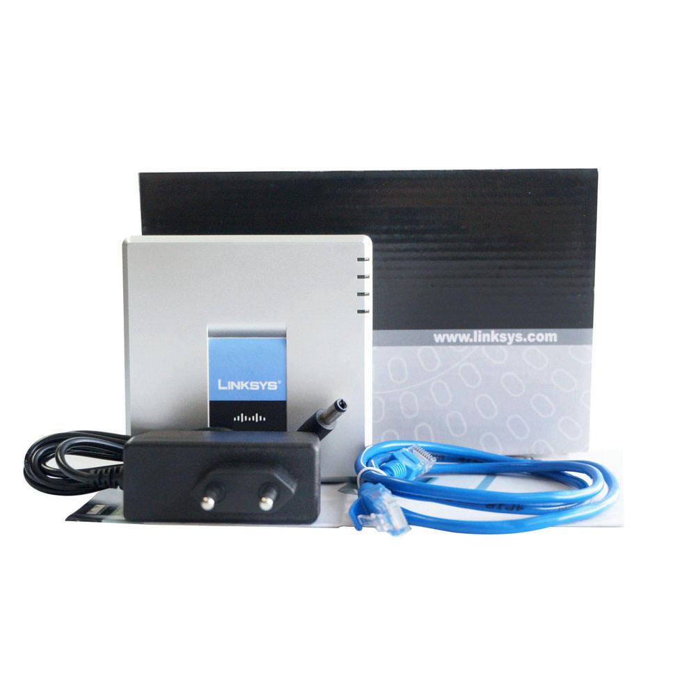 ホット販売linksys spa2102 voipアダプタlinksysルータに接続できるファックス