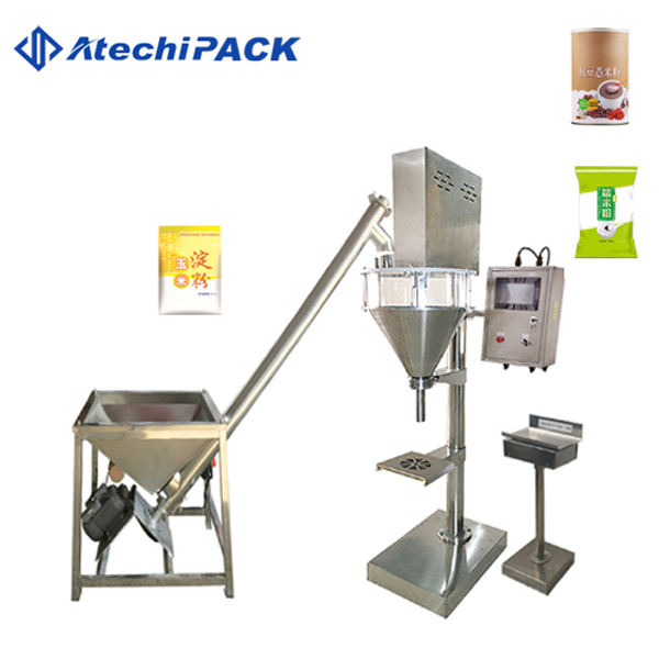 Semi automatic auger powder hopper filler / powder filling machine with factory price