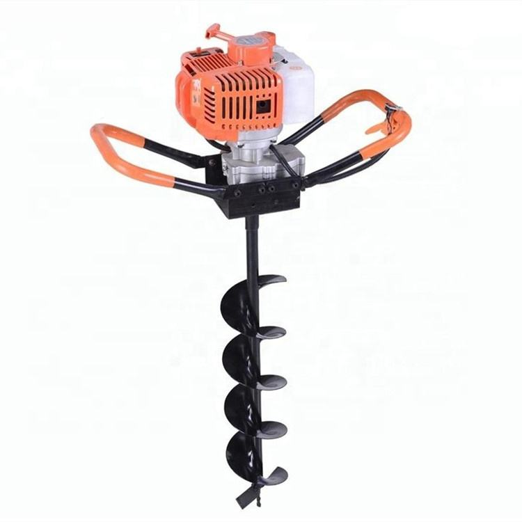 Portable double handle earth auger drilling machine ground hole drill earth auger