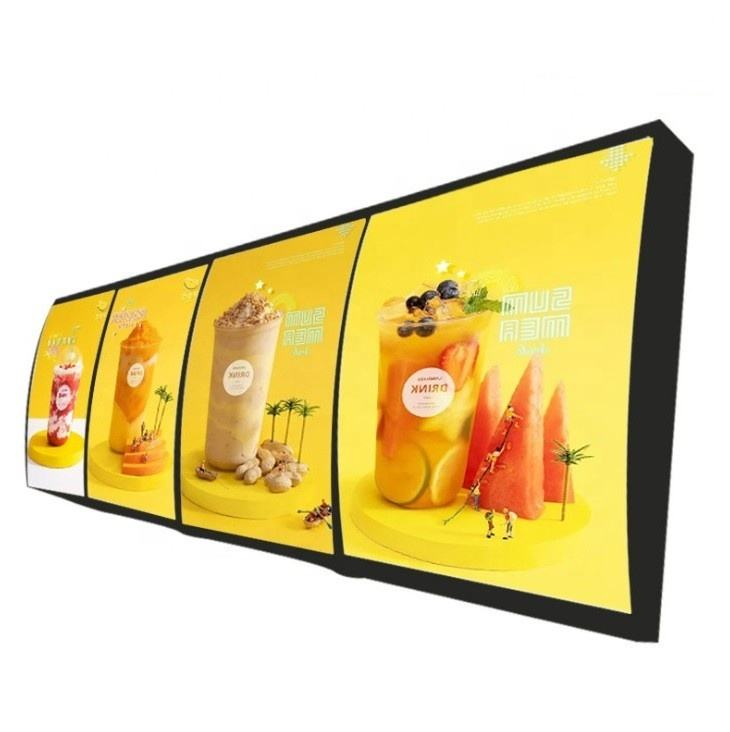 led kfc macdonald menu board Large Order food KFC Mc fast food High brightness LED light box menu display light box for sale