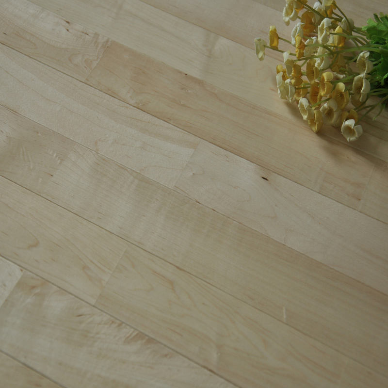 Basketball court sports flooring smooth UV lacquered Chinese maple wood flooring solid indoor basketball court flooring