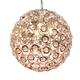 Ball Pendant Light Home Decoration Pendant Lights Gold Or Chrome Luxury Fancy Modern Crystal Chandelier Lighting