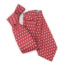 Casual Mens Decoration Suit Matching Neckties Red Based White Flying Plane Silk Ties Custom Print Tie with Self Tipping