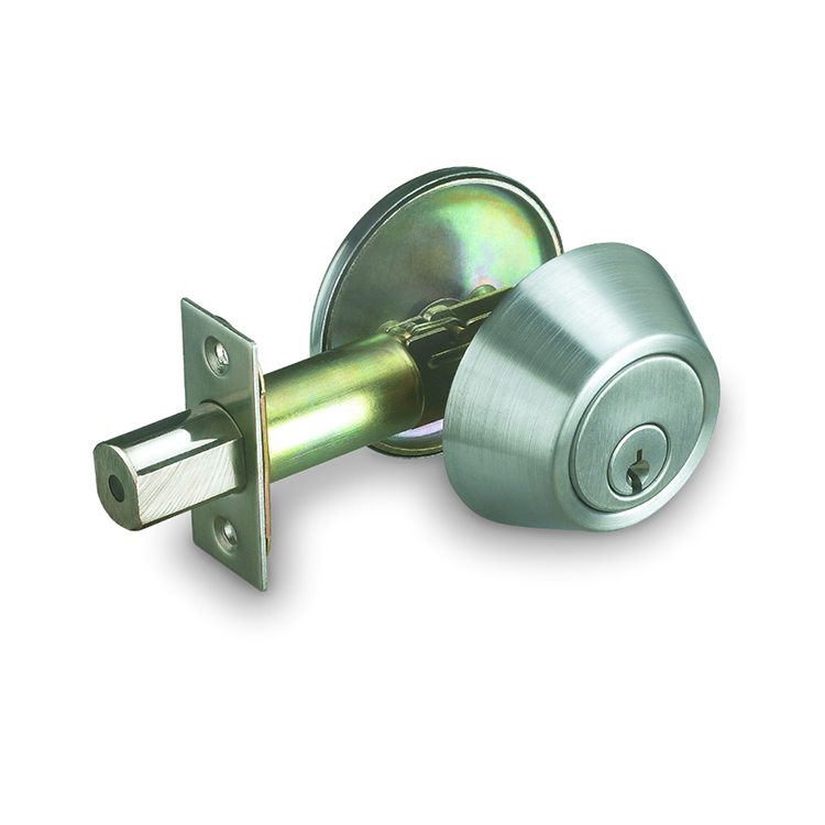 Iron [ Cylinder Deadbolt ] Single Cylinder Deadbolt Lock Ansi Grade 2 Stainless Steel Single Cylinder Deadbolt Door Locks