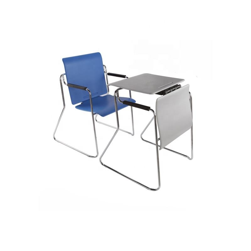 Multifunctionele Training Stoelen Dual-Purpose Plastic-Staal Convertible Tafel En Stoel