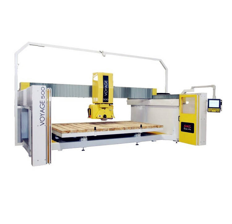 OMC 5 axis quartz granite marble stone CNC milling cutting bridge saw machine