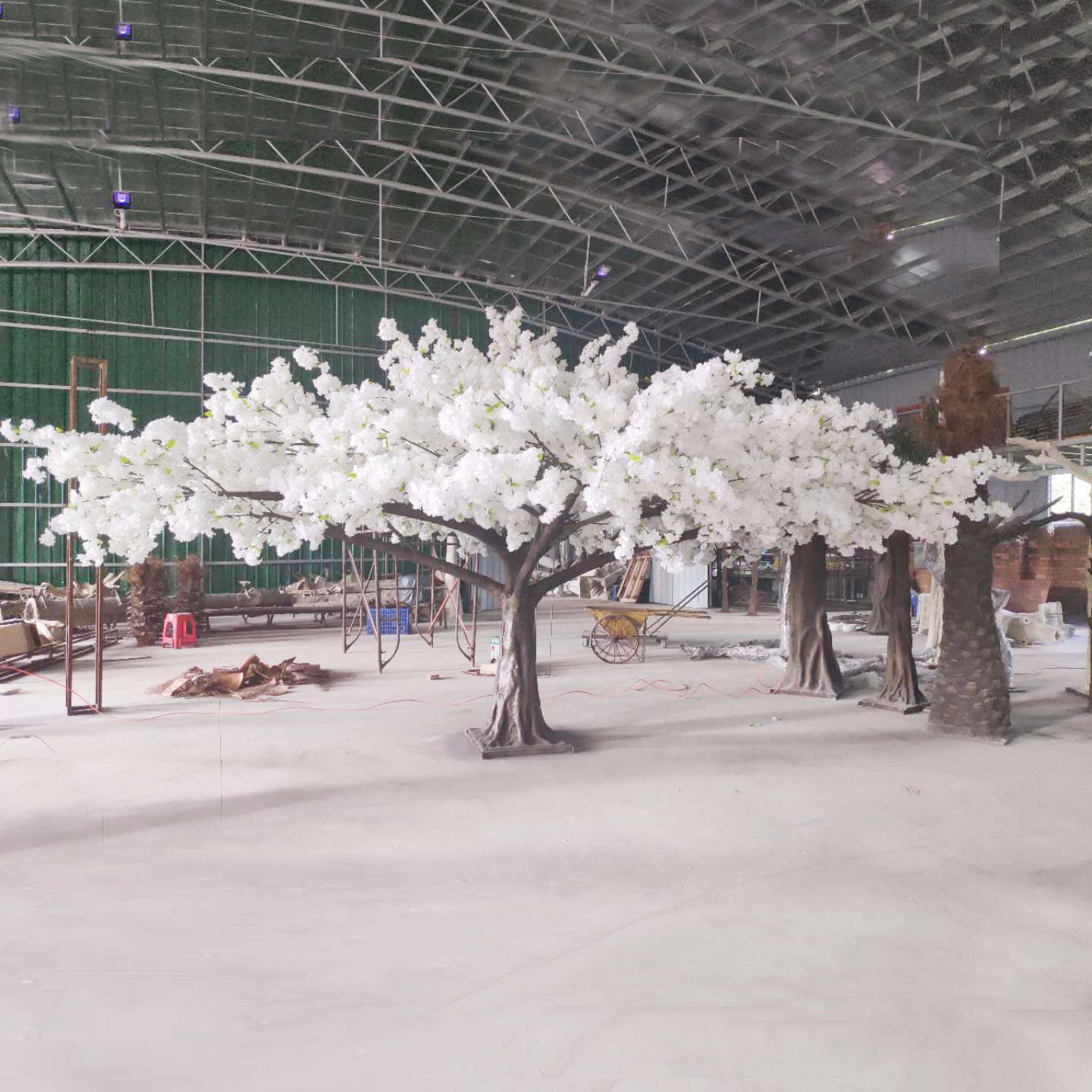 3M Height 6M Wide Interior Wedding Supplies Wholesale Pink Or White Artificial Big Flower Arch Tree Fake Cherry Blossom Tree