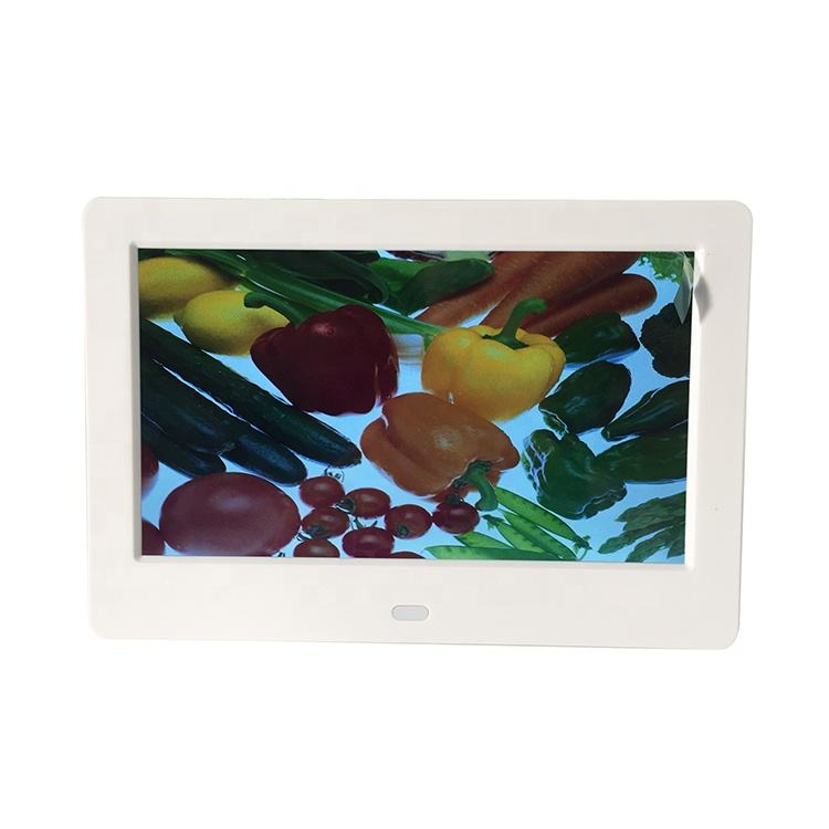 Hot sale 7 inch digital photo frame vertical Display Digital Photo Frame With loop video picture digital photo album