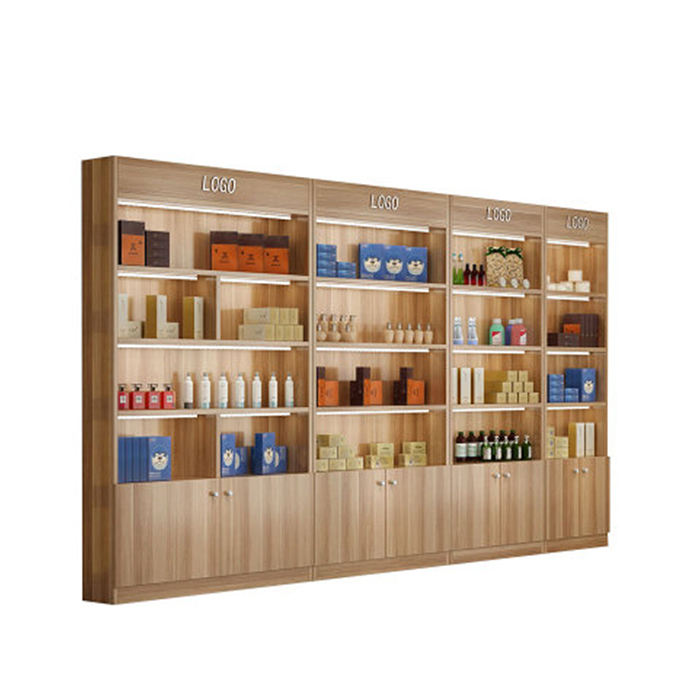Factory direct supply shop shelf display cosmetic Beauty salon products wisda display