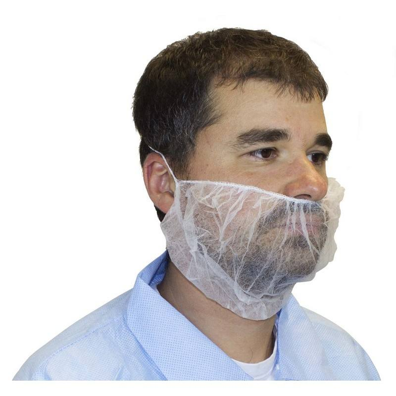 White Soft Disposable Non-Woven Beard Covers 20pcs/bag