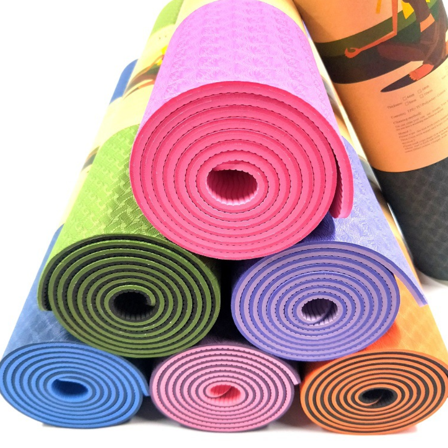 Double Layer TPE Yoga mat with OEM