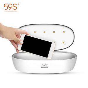 59 4s 多機能 uv ライトスマートフォン殺菌ボックスポータブル消毒携帯電話消毒ボックス