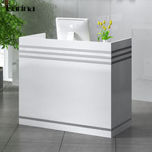 Corina Small Modern Gloss White Square Reception Desk Office Reception Table