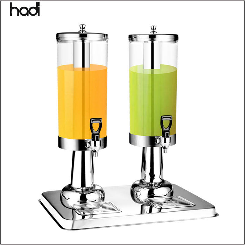Profreshionals soda can dispenser double tanks orange dispenser commercial acrylic drink dispenser cooler guangzhou